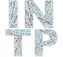 INTP Word Cloud Photographic Print