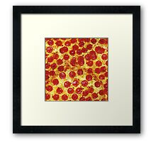 Pepperoni Pizza Framed Print