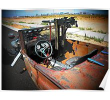"""Rat Rod Roadster """" Unexpected Surprise """" Poster"""