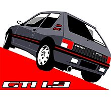 Peugeot 205 GTI 1.9 grey Photographic Print