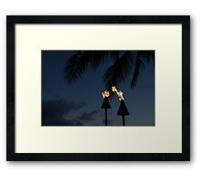 Of Tiki Torches, Palm Trees and Beach Parties Framed Print