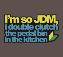 I'm so JDM, i double clutch the pedal bin (2) Kids Clothes