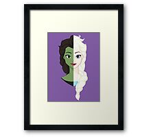 Wicked SnowQueen! Framed Print