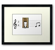 Proud to be a privy on a ledger line Framed Print