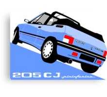 Peugeot 205 CJ cabriolet light blue Canvas Print