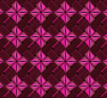 Weaved Wicker Texture - Hot Pink (Fuchsia) by sitnica