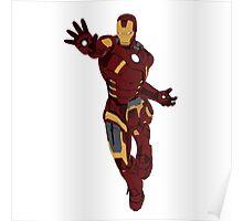 Iron Man - block colours Poster