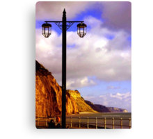 Lamp Along the Seafront Canvas Print