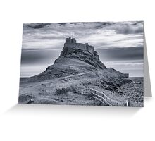 The Castle  Holy Island Greeting Card