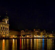 Lucerne Nightscape by Adam Northam