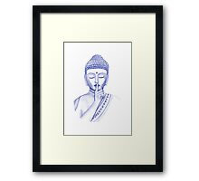 Shh ... do not disturb - Buddha  Framed Print