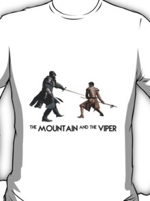 The Mountain and the Viper Inspired Artwork 'Game of Thrones' T-Shirt