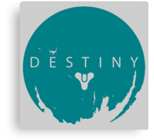 Destiny - Green Water Logo by AronGilli Canvas Print
