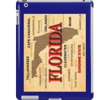 Antique Florida State Pride Map Silhouette  iPad Case/Skin