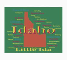 Colorful Idaho State Pride Map  Kids Clothes