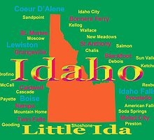 Colorful Idaho State Pride Map  by KWJphotoart