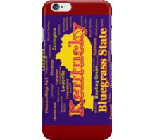 Colorful Kentucky State Pride Map Silhouette  iPhone Case/Skin