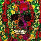 Sugar Skull with full color Flower by Latifa Salma lufa Poerawidjaja