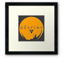 Destiny - Yellow Logo by AronGilli Framed Print