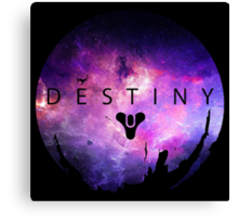 Destiny - Galaxy Logo by AronGilli Canvas Print