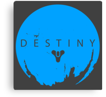 Destiny - Skyblue Logo by AronGilli Canvas Print