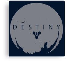 Destiny - Grey Logo by AronGilli Canvas Print