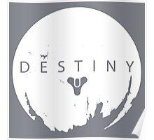 Destiny - White Logo by AronGilli Poster