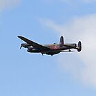 Lancaster Bomber over Biggin Hill Kent by Keith Larby