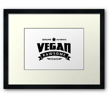Vegan Rawsome Power Framed Print
