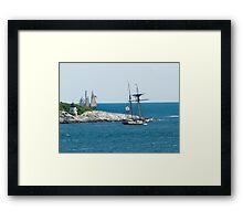 Around the Point and Out to Sea Framed Print