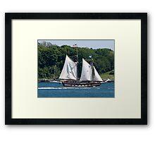 Tall Ship Sailing Past Newport, RI Framed Print