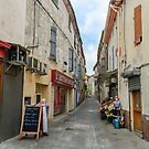 A street in the French village Murviel-les-Beziers by 7horses