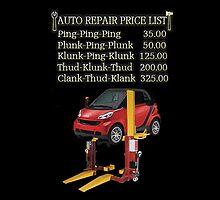 ☝ ☞ $ AUTO CAR REPAIR PRICE LIST THROW PILLOW $☝ ☞ by ✿✿ Bonita ✿✿ ђєℓℓσ