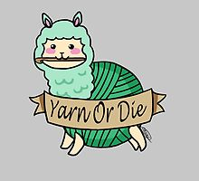 Yarn Alpaca - Yarn Or Die - Green by thedracasien