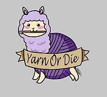 Yarn Alpaca - Yarn Or Die - Purple by thedracasien