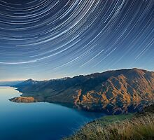 Lake Hawea startrails 1 by focuscreative