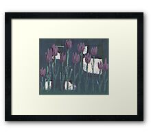 Tulips at Midnight Framed Print