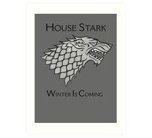 House Stark Direwolf Sigil Art Print
