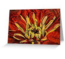 Vivid Evocative Floral Mosaic Greeting Card