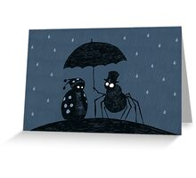 Bugs in the Rain Greeting Card