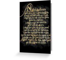 """Night Gathers..."" Greeting Card"