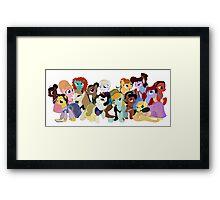 My Little Disney Princesses Framed Print