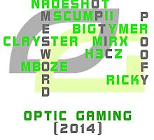 OpTic Gaming / Nation Crossword Design by Deccy43