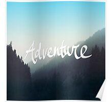 Adventure x Blue Poster