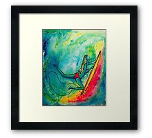 Underneath the Wave Framed Print