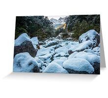 Ice on the Rocks Greeting Card