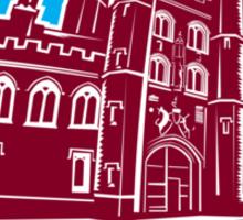 St John's College Cambridge Building Retro Sticker
