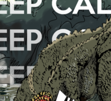 Keep Calm and Brave the Jho Sticker