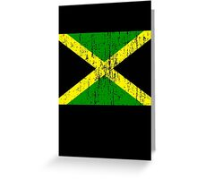 Jamaican Flag (distressed, any background) Greeting Card