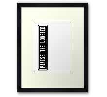 Praise the lowered Framed Print